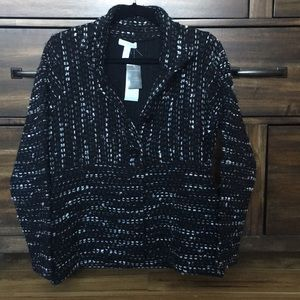 Charter club knit button jacket top